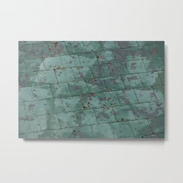 Tiles in Quebec City #Canada Metal Print
