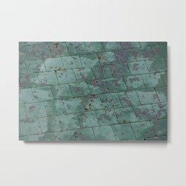 Tiles in Quebec City #Canada Metal Print
