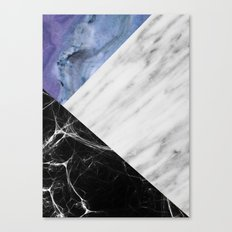 Marble Collage with Blue Canvas Print