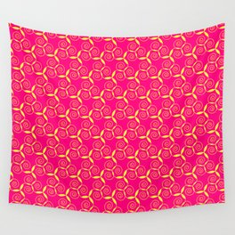 Golden curled paterns Wall Tapestry