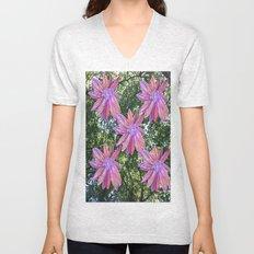 Flowers in Trees Unisex V-Neck