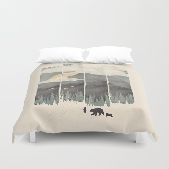 Spring Mountain Weather Duvet Cover