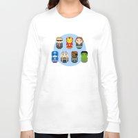 avenger Long Sleeve T-shirts featuring Pixel Art - Avenger parody by Cloudsfactory