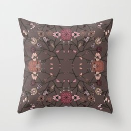 CONNECTED FLORAL II Throw Pillow
