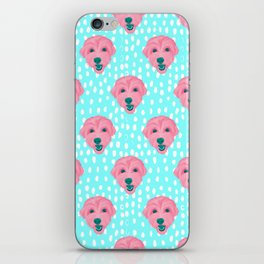 havanese - aqua pattern iPhone Skin