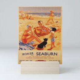 vintage poster Roker and Seaburn Mini Art Print