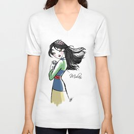 Mulan - Fairytale's Princess Collection by LeleDraw Unisex V-Neck
