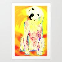Nixo Abstract A34 Art Print