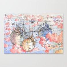 Le Tre Mongolfiere Canvas Print