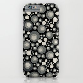 GOTH - grey bubbles on black iPhone Case