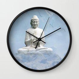 Buddha in Clouds Wall Clock