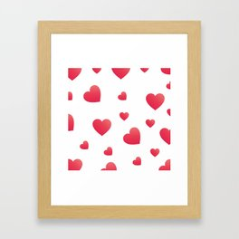 Elegant Valentine's Day hearts Framed Art Print