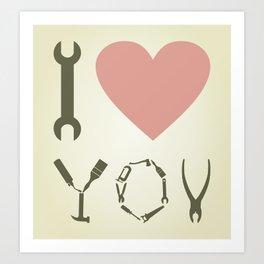 Love tool Art Print