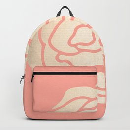 Rose White Gold Sands on Salmon Pink Backpack