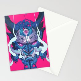 Oni Mask 01 Stationery Cards