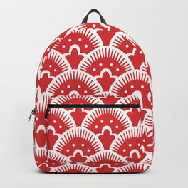 Fan Pattern Red 201 Backpack