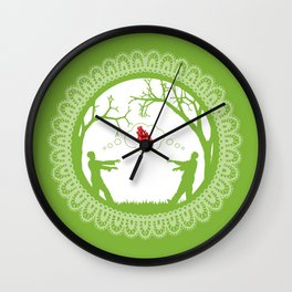 Love Undead Green Wall Clock