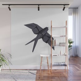 Origami Swallow Wall Mural