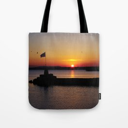 A beautiful sunset view of Lough Neagh Tote Bag