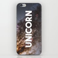 the last unicorn iPhone & iPod Skins featuring Unicorn by eARTh
