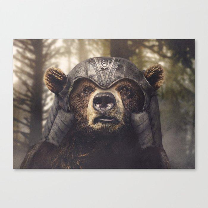 Armored Bear Companion Canvas Print