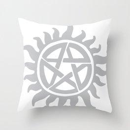 Anti possession seal grey  Throw Pillow