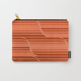 Geo Stripes - Rust Orange Carry-All Pouch