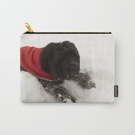 Briard in the Snow Carry-All Pouch