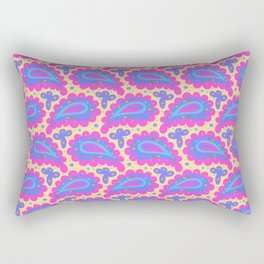 Bold pink paisley seamless pattern. Rectangular Pillow