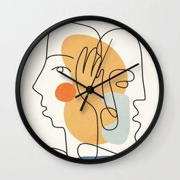 Abstract Faces 33 Wall Clock