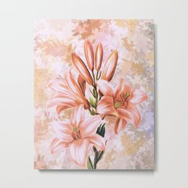 The Pink Lilies (Color) Metal Print