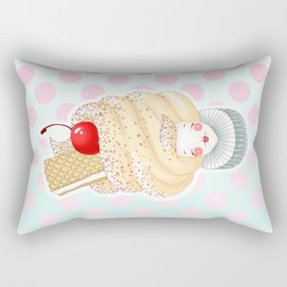 Doll faced vanilla soft serve Rectangular Pillow
