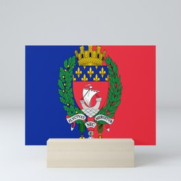 Coat of arms of Paris / Blason de Paris / Fluctuat nec mergitur Mini Art Print