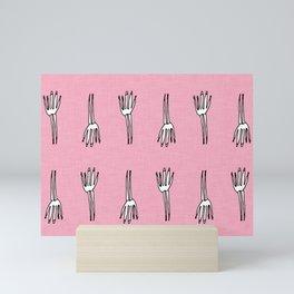 Skeletal Hand Pink #Halloween Mini Art Print