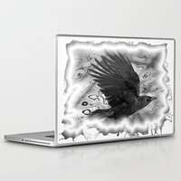 crow Laptop & iPad Skins featuring crow by Vector Art