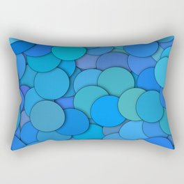 colorful circles Rectangular Pillow