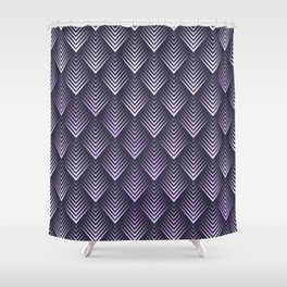 Abstract Watercolor Purple Leafs Pattern Shower Curtain