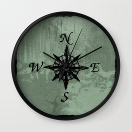 Historic Old Compass Rose Wall Clock