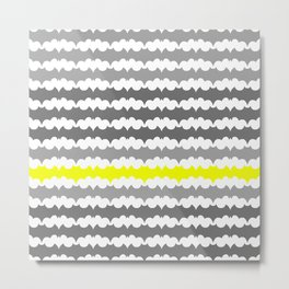 Gray and Yellow Abstract Pillow Metal Print