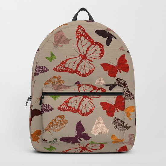 Autumn butterfly neutral Backpack