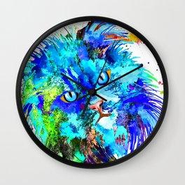 Persian Cat Wall Clock