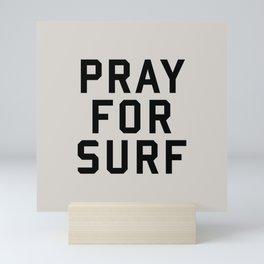 Pray For Surf Mini Art Print