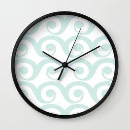 Minty Waves Wall Clock