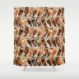 Owls of Athens Shower Curtain