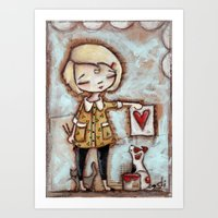 Work of Heart by Diane Duda Art Print
