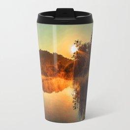 Sunrise at the lake/Sonnenaufgang am See Travel Mug