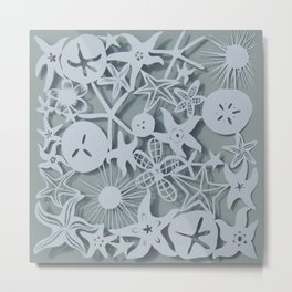 SeaStar Paper Cutting Metal Print
