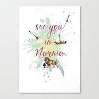 narnia Canvas Prints featuring See you in Narnia by Sybille Sterk