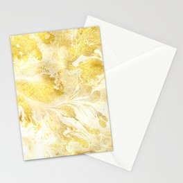 Golden Marble Abstract Stationery Cards