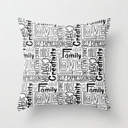 Human life values Throw Pillow